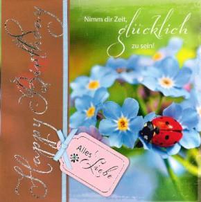 Depesche Emotions Klappkarte 031 Happy Birthday Nimm dir Zeit, glücklich.