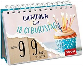 Countdown-Kalender, um die Tage bis zum 18. Geburtstag zu zählen