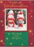 Lustige Weihnachtskarte Klappkarte Fröhliche Weihnachten Für dich von Herze
