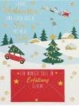 Lustige Weihnachtskarte Klappkarte Ein Wunsch soll in Erfüllung gehen! Froh