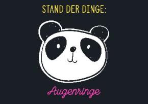 Neon Postkarte mit Spruch - Stand der Dinge : Augenringe