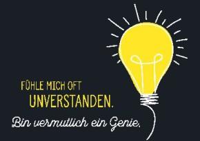 Neon Postkarte mit Spruch - Fühle mich oft unverstanden.
