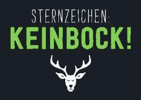 Neon Postkarte mit Spruch - Sternzeichen : Keinbock!