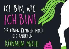 Neon Postkarte mit Spruch - Ich bin, wie ich bin!