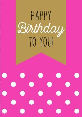 NEON Klappkarten mit Spruch Happy Birthday to you!
