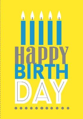 NEON Klappkarten mit Spruch - Happy Birthday
