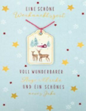 Lustige Weihnachtskarte Klappkarte Eine schöne Weihnachtszeit voll wunder..