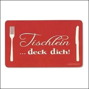 Frühstücksbrettchen Tischlein deck dich