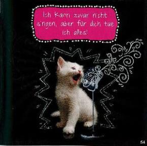 Geburtstagskarte mit Musik 3868-054D kann nicht singen(Katze)