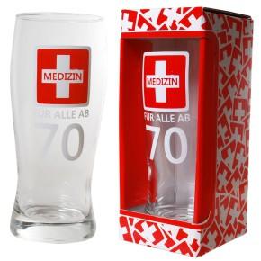 Bierglas Medizin ab 70 zum 70. Geburtstag für Männer