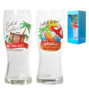 Bierglas mit Motiv für Rentner 1 Glas 1 Motiv sortiert