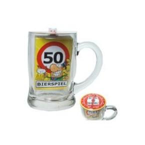 Bierglas Bierspiel 50. Geburtstag