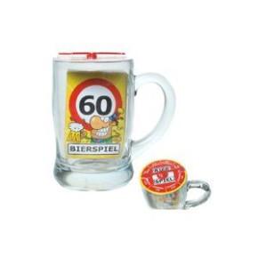 Bierglas Bierspiel 60. Geburtstag