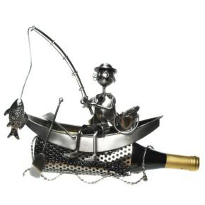 Flaschenhalter Angler im Boot