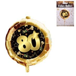 Folien-Ballon 80 schwarz/gold Geschenke zum 80. Geburtstag