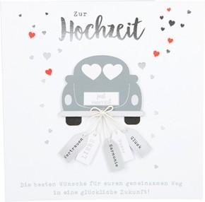 Glamour Glitzer Grußkarte Klappkarte mit Umschlag Zur Hochzeit die besten Wünsche für... ,quadratisch 046