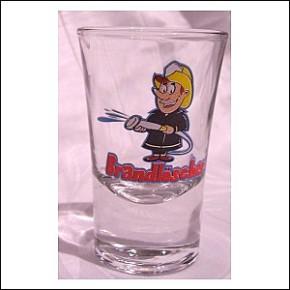 Witziges Schnapsglas Brandlöscher für Feuerwehrmänner