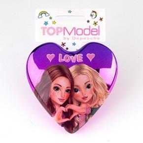 Top Model Klapp Haarbuersten mit Spruch Love