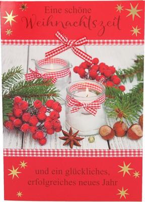Fröhliche Weihnachtskarte als Klappkarte 8622-029