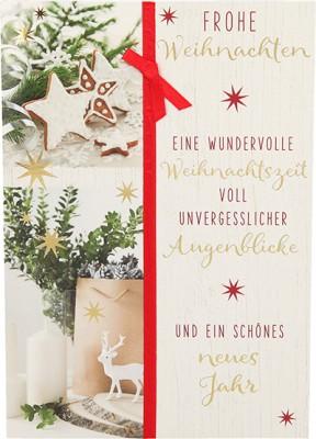 Fröhliche Weihnachtskarte als Klappkarte 8622-043