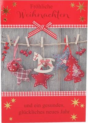 Fröhliche Weihnachtskarte als Klappkarte 8622-044