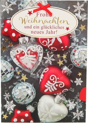 Fröhliche Weihnachtskarte als Klappkarte 8622-055