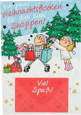 Fröhliche Weihnachtskarte als Klappkarte 8622-013 Ein paar Weihnachtsflocken für dich zum. ..