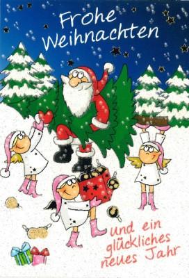 Fröhliche Weihnachtskarte als Klappkarte 8622-015 Frohe Weihnachten und ein glückliches...