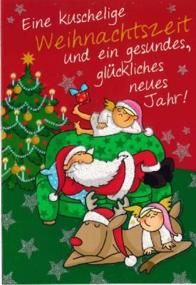 Fröhliche Weihnachtskarte als Klappkarte 8622-016 Eine kuschelige Weihnachtszeit und...