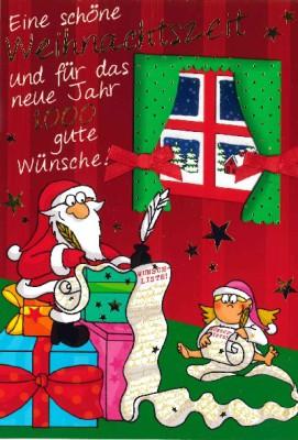Fröhliche Weihnachtskarte als Klappkarte 8622-017 Eine schöne Weihnachtszeit und für das..