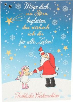 Fröhliche Weihnachtskarte als Klappkarte 8622-027 Möge dich ein Stern begleiten, das ...