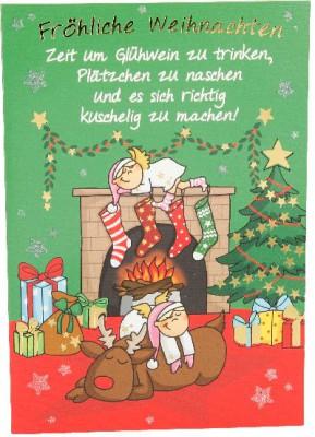 Fröhliche Weihnachtskarte als Klappkarte 8622-028 Fröhliche Weihnachten Zeit um Glühwein..