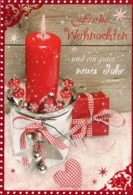 Fröhliche Weihnachtskarte als Klappkarte 8622-030