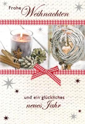 Fröhliche Weihnachtskarte als Klappkarte 8622-039