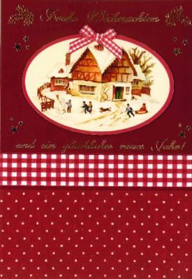 Fröhliche Weihnachtskarte als Klappkarte 8622-045