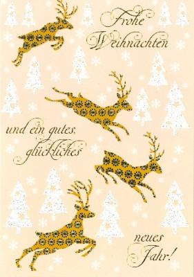 Fröhliche Weihnachtskarte als Klappkarte 8622-046