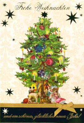 Fröhliche Weihnachtskarte als Klappkarte 8622-047
