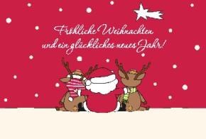 Lustige Weihnachtskarte 8634-028