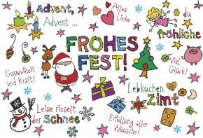 Lustige Weihnachtskarte Medi Klappkarte Weihnachten 012