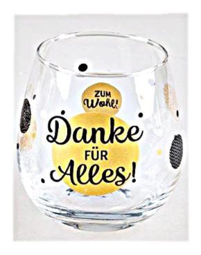 """Whiskyglas, Wasserglas oder auch Weinglas mit Spruch """"Danke für"""""""