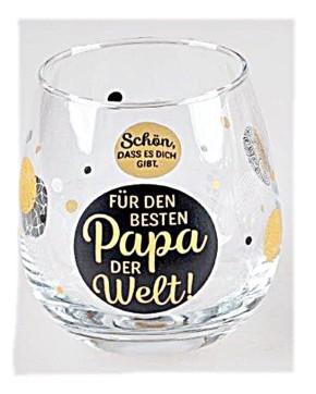 """Whiskyglas, Wasserglas oder auch Weinglas mit Spruch """"Für Papa"""""""