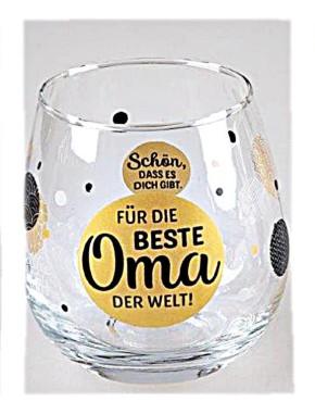 """Whiskyglas, Wasserglas oder auch Weinglas mit Spruch """"Für die beste Oma der Welt"""""""