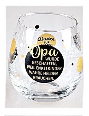 """Whiskyglas, Wasserglas oder auch Weinglas mit Spruch """"Opa"""""""