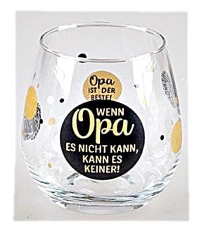 """Whiskyglas, Wasserglas oder auch Weinglas mit Spruch """"Opa ist der Beste"""""""