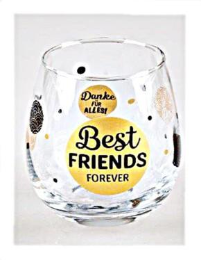 """Whiskyglas, Wasserglas oder auch Weinglas mit Spruch """"Best Friends Forever"""""""
