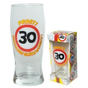 Bierglas Prost  zum 30. Geburtstag