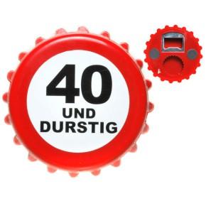 Bieröffner Kronkorken 40. Geburtstag
