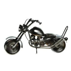 Deko Motorrad Chopper aus Metall