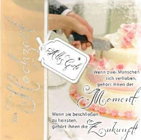 Depesche Emotions Klappkarte 043b zur Hochzeit Motiv Torte
