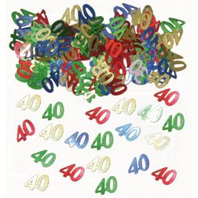 Tischkonfetti Zahl 40 Party Deko Geburtstag